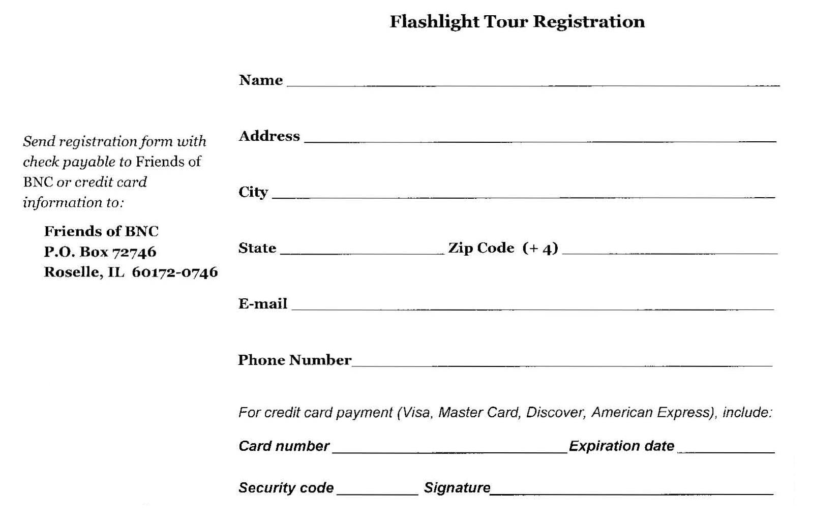 Walking Tours – Tour Reservation Form